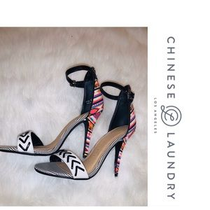 Chinese Laundry tribal heels